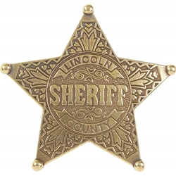 Lincoln County Sheriff Replica Badge 19-OD104