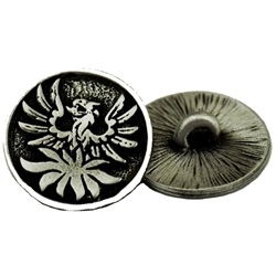 Pewter Phoenix Button 21-2064