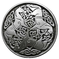 Large Celtic Horse of Epona Button 21-2066