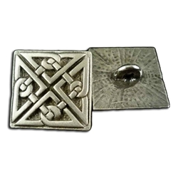 Square Celtic Knot Button 21-2138