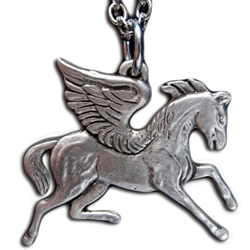Pegasus Pewter Necklace  Pendant