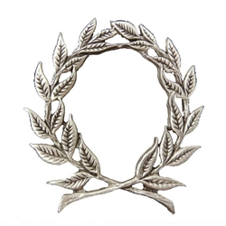 Pewter Laurel Wreath Brooch 106.0626