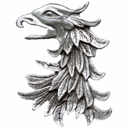 Pewter Griffin Brooch 106.0720