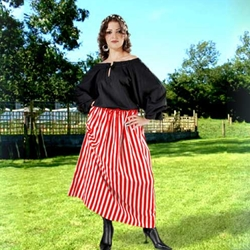 Striped Wench Skirt 22-C1077