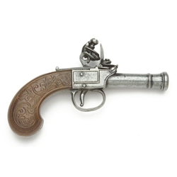 Colonial Gray Finish Pocket Flintlock Pistol - Non