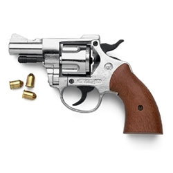Olympic 9mm Blank Firing Revolver Nickel Finish 24-38-212