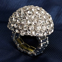 Jeweled Dome Adjustable Ring 26-201185