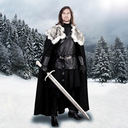 Game of Thrones Jon Snow Nights Watch Cape of the North
