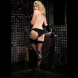 Sheer Panty with Satin Rhumba Ruffle Back 28-2920