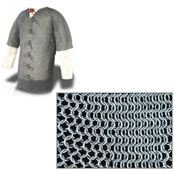 Chainmail Haubergeon 60 Inch Chest Butted High Tensile Steel AB2503