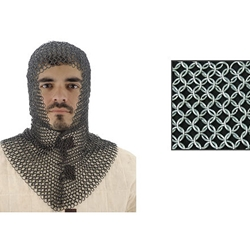 Chainmail Coif With V-Shape Face 29-AB2807