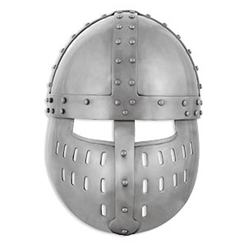 Crusader Spangenhelm with face guard Medieval Helmet