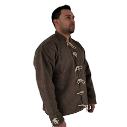 15th Century Doublet, Brown, Size Large 29-GB0173