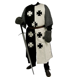 Black and White Crusader Surcoat GB0205