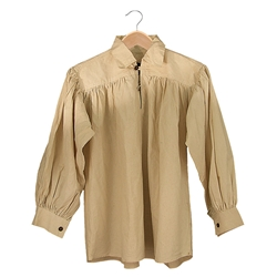 Renaissance Cotton Shirt with Collar Natural Large GB3025