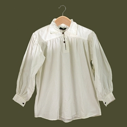 Renaissance Cotton Shirt with Collar White XL GB3030