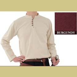 Heavy Cotton Shirt, Burgundy, Large