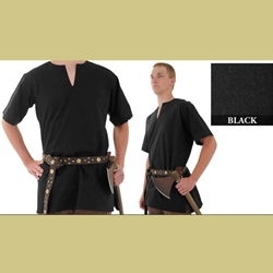 Medieval Tunic, Black, Large