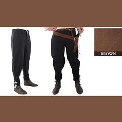 Medieval Ankle Laced Pants, Brown, Extra Large