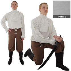 Napoleonic Shirt, White Extra Large