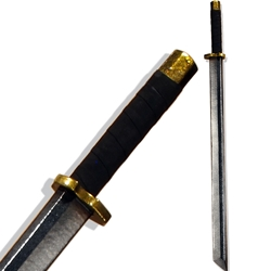 Ninjato LARP Shortsword - Brass Colored Hilt - 33 inches
