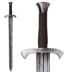 Foot Soldier's LARP Shortsword - Steel Colored Hilt - 33 in