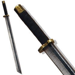 Ninjato LARP Longsword - Brass Colored Hilt - 39.5 inches