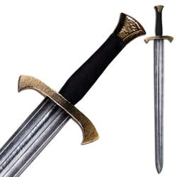 Footman LARP Longsword - Brass Colored Hilt - 39 inches