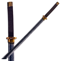 Samurai Katana Longsword LARP - Brass Colored Hilt - 41 in