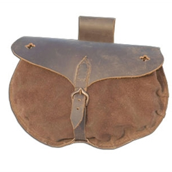 15th Century Soldiers Pouch - Roughout Leather