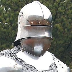 Sallet Helm With Bevor 300148