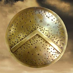 300 Round Spartan Brooch 300 BroochRound