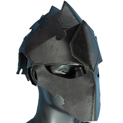 Leather Assassins Helmet Black 6100101-B
