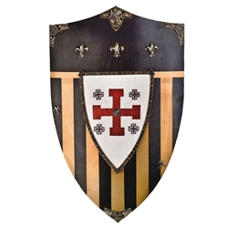 Wooden Shield-Jerusalem AG875