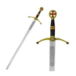 Art Gladius Crusader Sword-Brass Decorated 31-SG3110