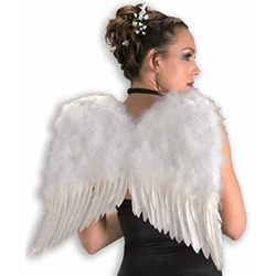Deluxe White Feather Wings 32-1968