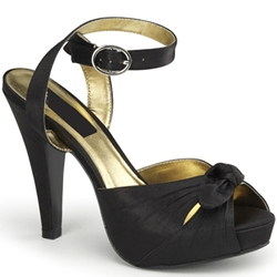 Satin Bettie Platform Sandals 34-1161