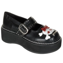 Emily Bow Skull Mary Jane Shoes 34-3074