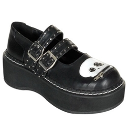Emily Double Buckle Skull Mary Jane Shoes 34-3075