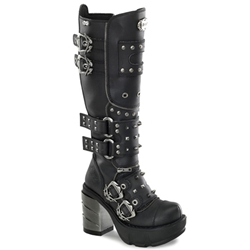 Sinister Studded Knee Boots 34-3122