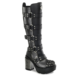 Sinister Multi Strap Knee Boots 34-3124