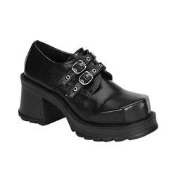 Trump Chunky Heel Buckle Shoes 34-3154