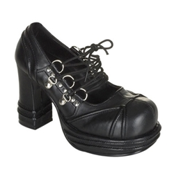 Vampire Chunky Heel Lace Up Shoes 34-3155