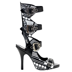 Zombie Cyber Print Buckle Sandals 34-3169