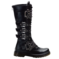 Disorder Extra Tall Gothic Combat Boots 34-3229