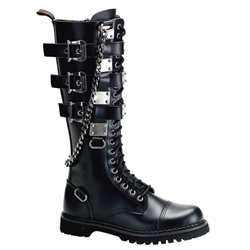 Gravel Chain Knee High Combat Boots 34-3239