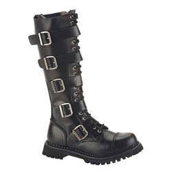 Riot Tall Leather Combat Boots 34-3256
