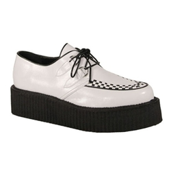 V-Creeper Checkerboard Platform Shoes