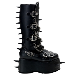 Wicked Chain Platform Knee Boots 34-3293