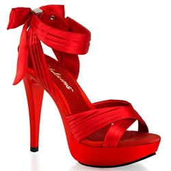 Cocktail Sandals with Bow Back